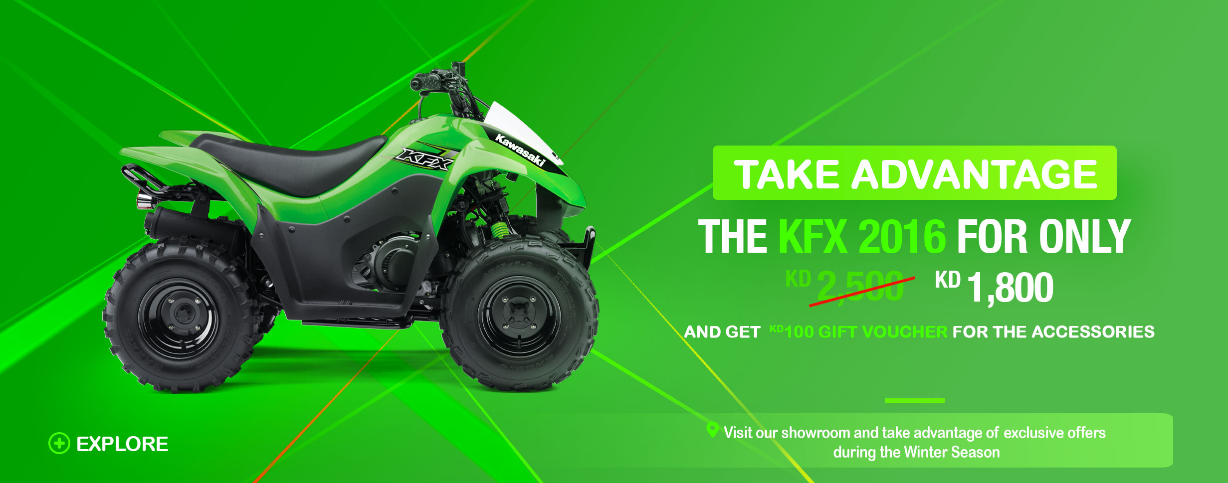 THE KAWASAKI  2016 KFX PRICED FOR ONLY KD 1,800   Image